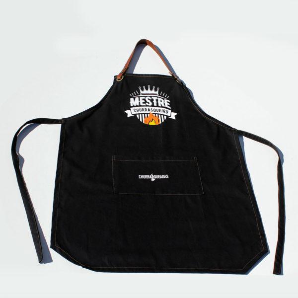 Avental mestre churrasqueiro preto 1