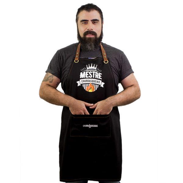 Avental mestre churrasqueiro preto 3